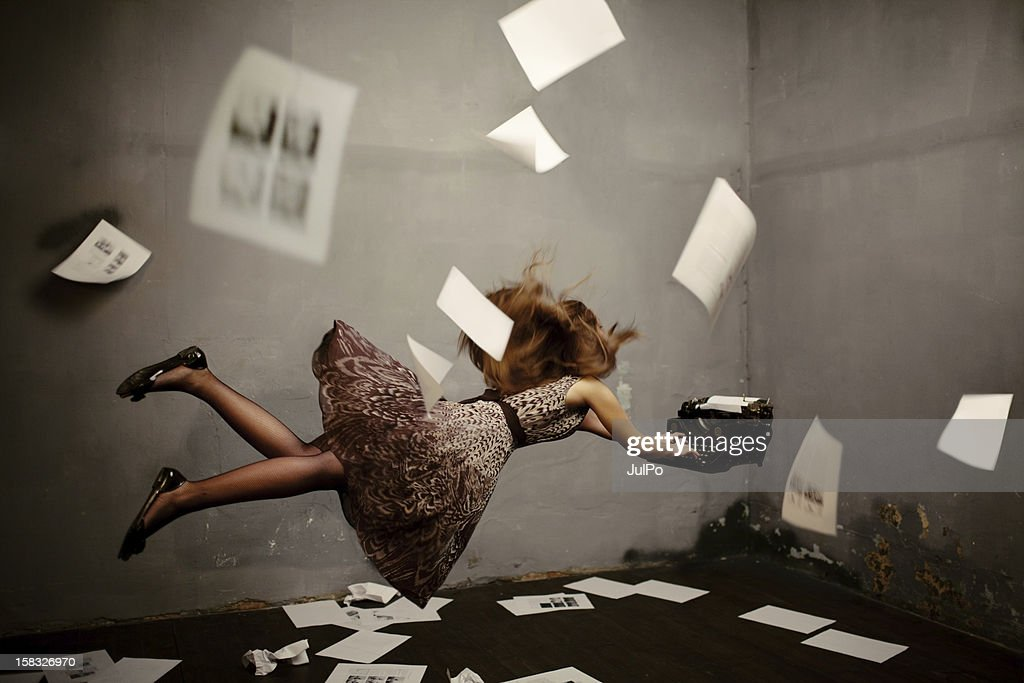 Surreal writer : Stock Photo