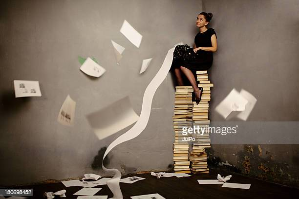 surreal writer - authors stockfoto's en -beelden