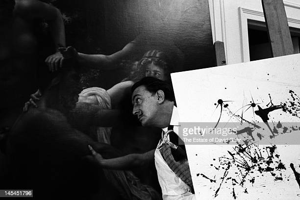Surrealist artist Salvador Dali poses for a portrait in February 1962 at the St Regis Hotel in New York City New York