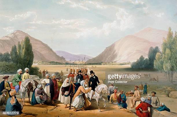 Surrender of Dost Mohammad Khan Kabul First AngloAfghan War 18381842 Dost Mohammed Khan ruler of Afghanistan surrendering to William MacNaghten...