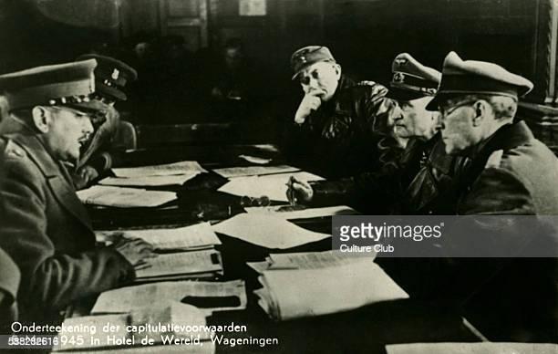 Surrender of German forces in the Netherlands 5 May 1945 German commanderinchief in the Netherlands General Johannes Blaskowitz surrendered to...