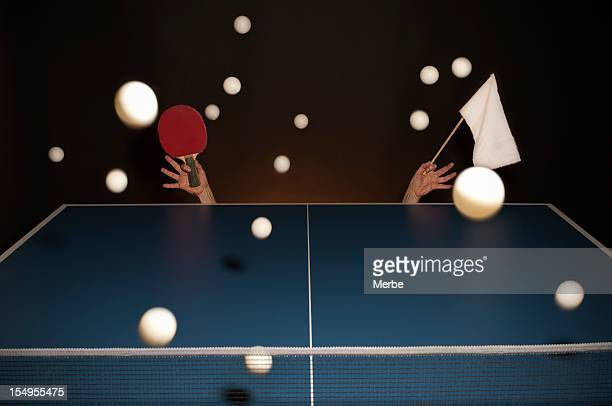 i surrender - funny ping pong stock pictures, royalty-free photos & images
