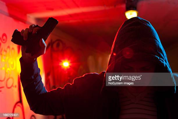 surrender - armed robbery stock photos and pictures