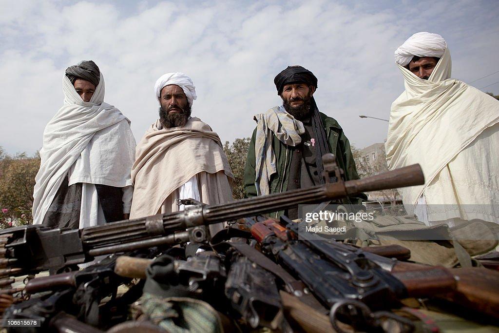 Taliban Militants Surrender In Herat Province : News Photo