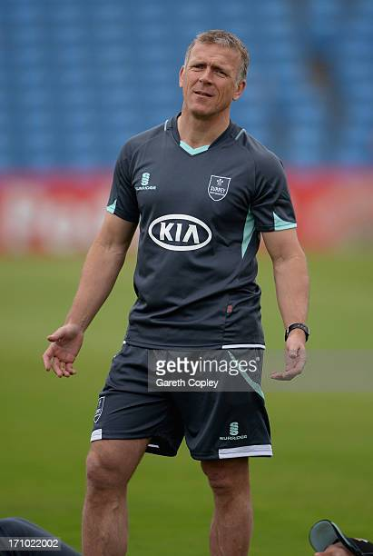 Surrey acting coach Alec Stewart ahead of day one of the LV County Championship Division One match between Yorkshire and Surrey at Headingley on June...
