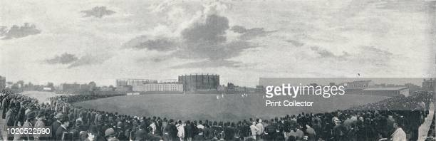Surrey and Australians Cricket March at Kennington Oval', circa 1896. From Pictorial England and Wales. [Cassell and Company, Limited, London, Paris...