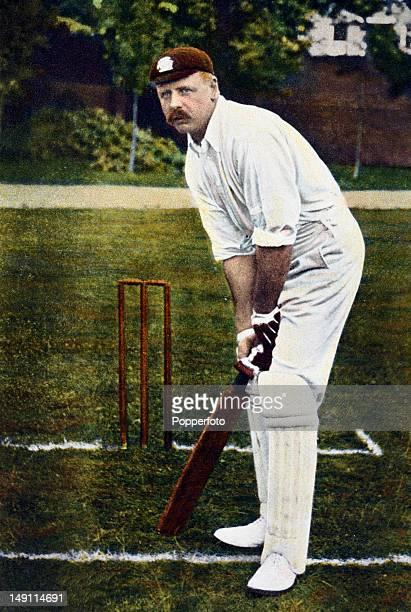 Surrey and England batsman Tom Hayward, circa 1907.