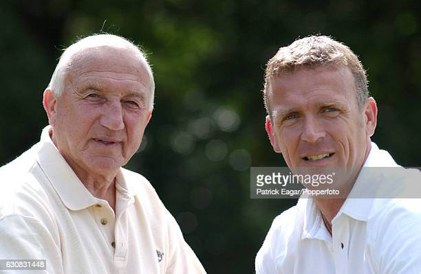 Surrey and England cricketers Micky and Alec Stewart photographed at Oxshott, Surrey, 1st September 2002.