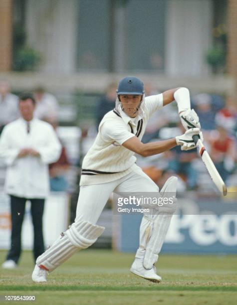 Surrey batsman Alec Stewart picks up some runs during a County match in May 1985 in England