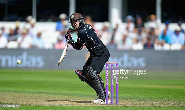 Surrey batsman Steven Davies picks up some runs during the Royal London OneDay Cup match between Somerset and Surrey at The County Ground on August...