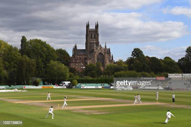 Surrey batsman Will Jacks picks up some runs as Surrey chase down their target during day four of the Specsavers County Championship Division One...