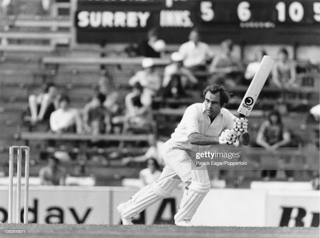 Edrich Batting At The Oval : News Photo