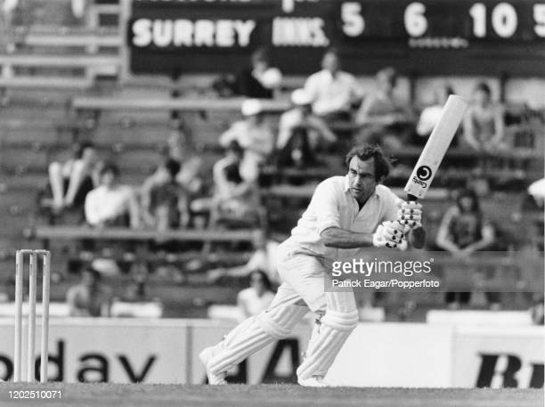 Surrey captain John Edrich batting against Essex in a County Championship match at The Oval, London, 3rd-6th July 1976.