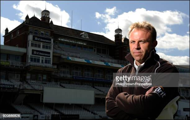 Surrey coach Chris Adams poses for photographs during the Surrey County Cricket Club Press Day at The Oval London 8th April 2009