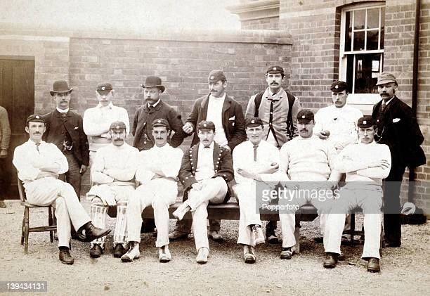 Surrey County Cricket Team photographed at Trent Bridge in Nottingham prior to their match against Nottinghamshire 14th June 1886 Back row unknown...