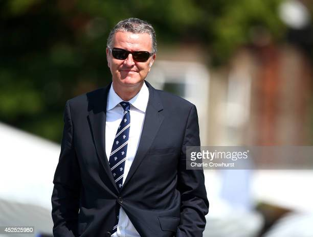 Surrey Cricket Chairman Richard Thompson during day three of the LV County Championship match between Surrey and Kent at Guildford Cricket Club, on...