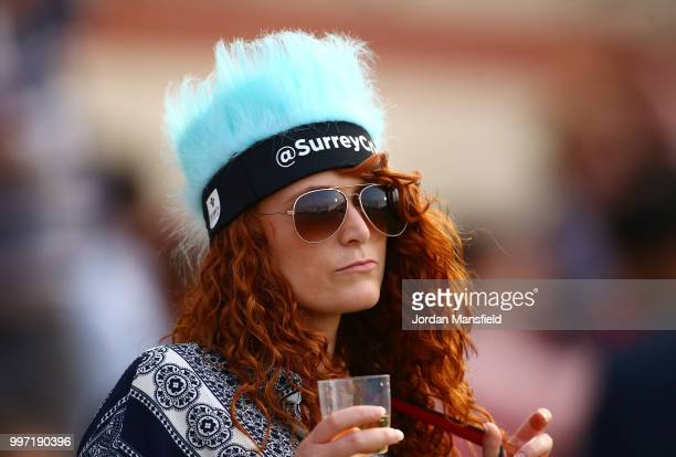 Surrey fan watches on during the Vitality Blast match between Surrey and Essex Eagles at The Kia Oval on July 12 2018 in London England
