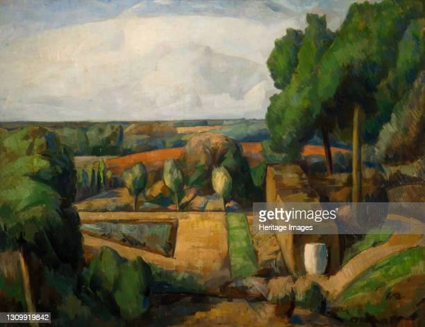 Surrey Garden, 1924. Artist Elliot Seabrook. .