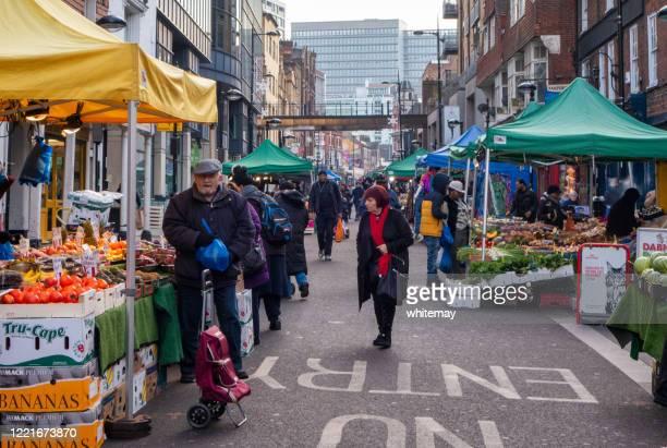 surrey street market, croydon - surrey england stock pictures, royalty-free photos & images
