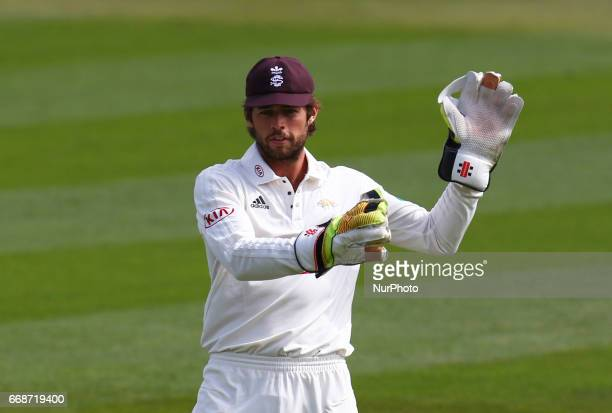 Surrey's Ben Foakes during Specsavers County Championship Diviision One match between Surrey CCC and Lancashire CCC at The Kia Oval London on April...