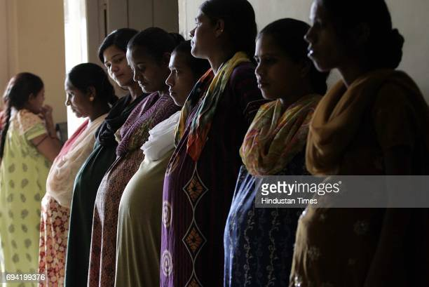Surrogates stand at Dr Nayanaben Patel's infertility centre in the district of Anand in Gujarat Most of the surrogates are second timers and say they...