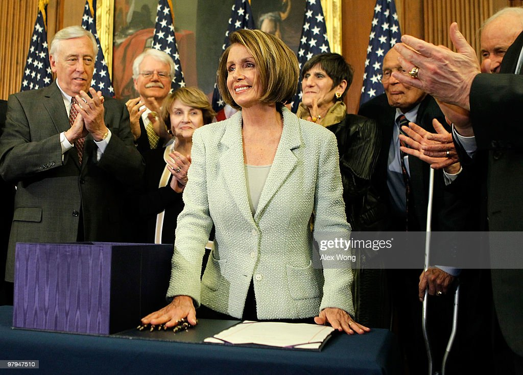 Pelosi And House Leaders Sign Senate Health Reform Bill