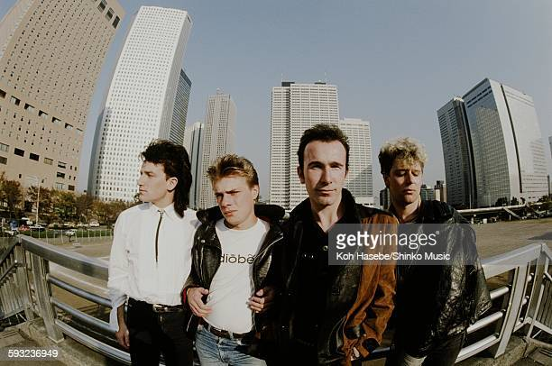U2 surrounded by highrise buildings in Shinjuku Tokyo November 1983