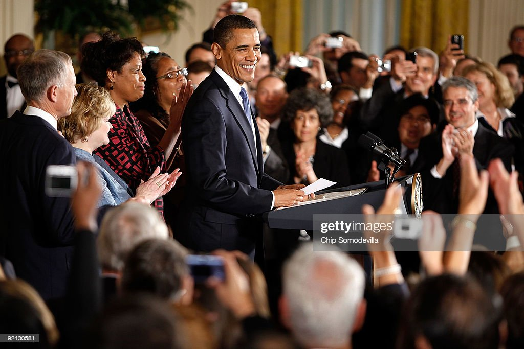 Obama Speaks At Hate Crimes Prevention Act Enactment : News Photo