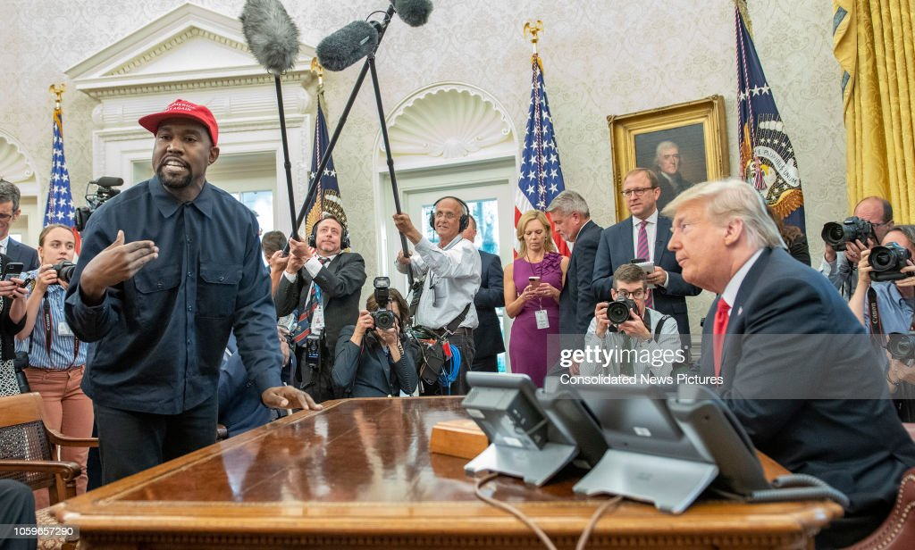 West & Trump In The White House : News Photo