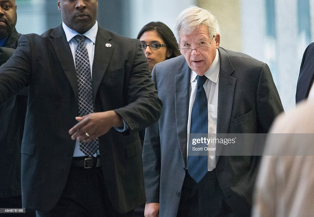 Former Speaker Of The House Dennis Hastert Enters Guilty Plea In Hush Money Case