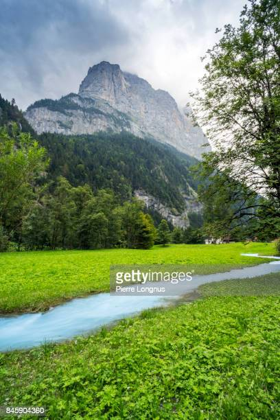 Surrounding Landscape of The Lauterbrunnen valley, Canton of Bern, Switzerland
