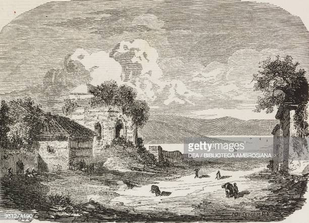 Surroundings of Gallipoli Turkey drawing by Gustave Dore from a sketch by Bordone illustration from Musee FrancaisAnglais n 21 September 1856