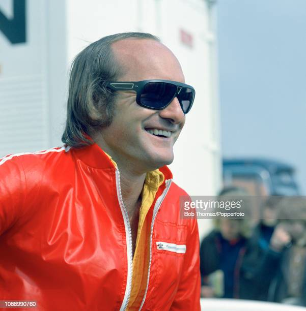 Surtees Formula One driver Mike Hailwood of Great Britain during the British Grand Prix at the Silverstone Circuit in Northampton, England on July...