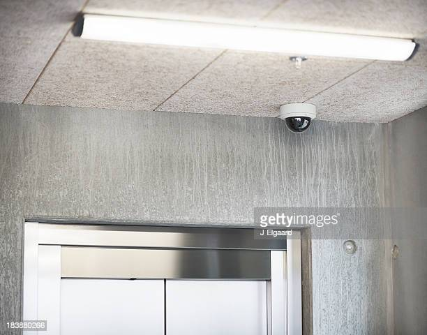 Surveillance camera monitoring corridor
