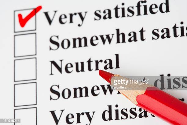 Survey checkbox with red pencil mark