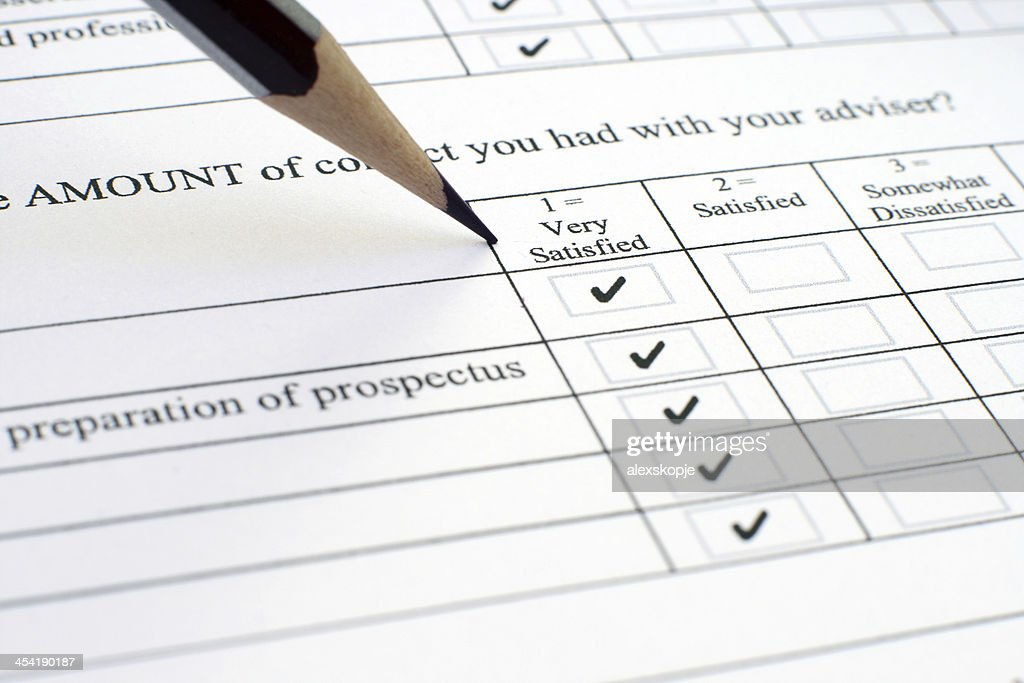 Survey form : Stock Photo