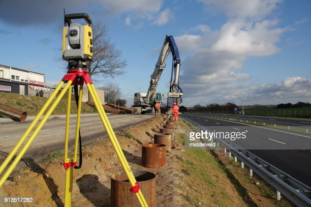 survey instrument - civil engineering stock photos and pictures