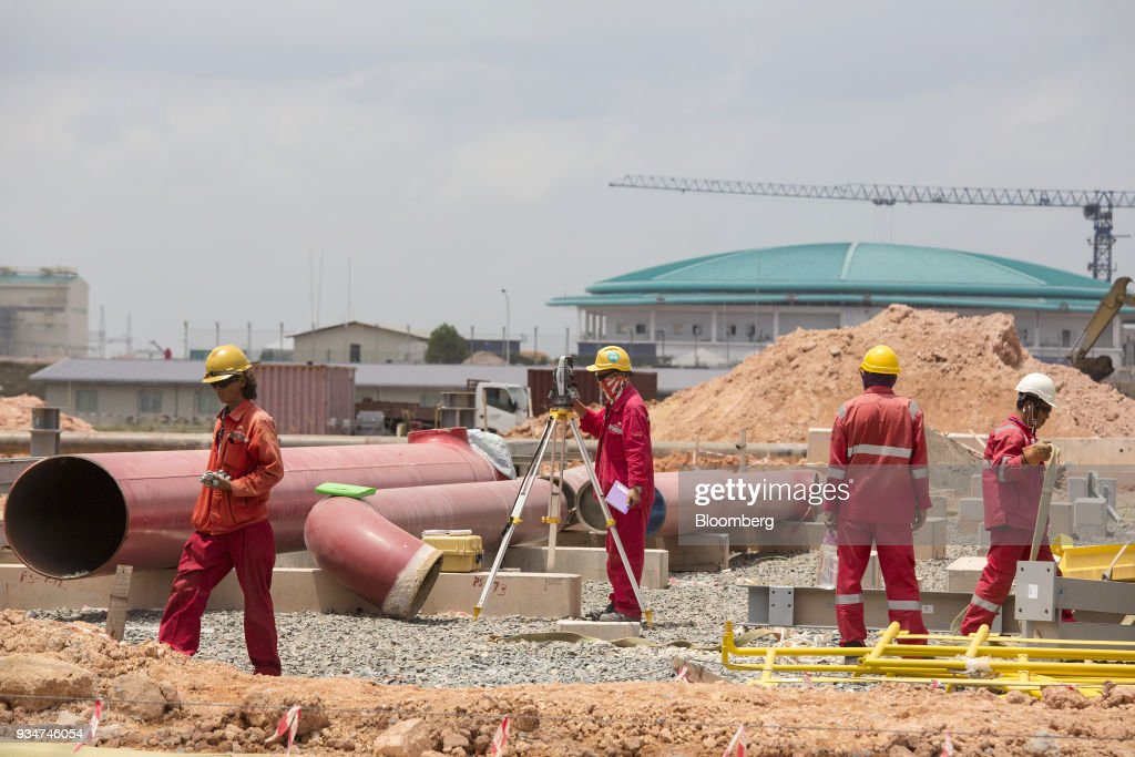Ongoing Construction at  the Petronas Refinery and Petrochemical Integrated Development Project