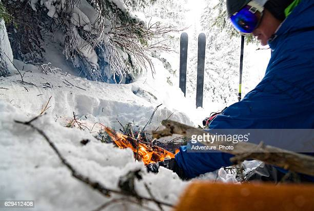 Survival Fire on Snow