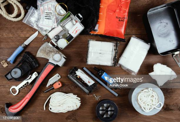 survival kit - first aid kit stock pictures, royalty-free photos & images