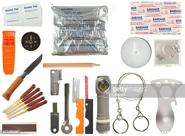 survival kit - survival stock pictures, royalty-free photos & images