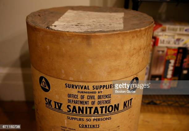 Survival supplies to be sold at the M Steinert Sons estate sale are pictured at the store's former home on Boylston Street in Boston on Apr 18 2017...