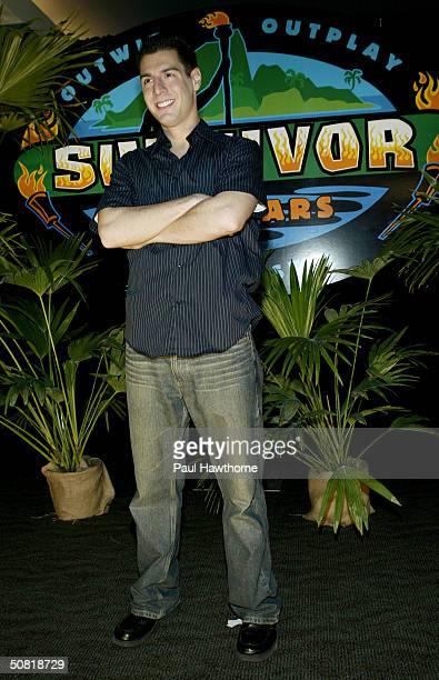 Survivor Allstar Rob Cesternino attends the Survivor Allstars Finale on May 9 2004 at Madison Square Garden in New York City