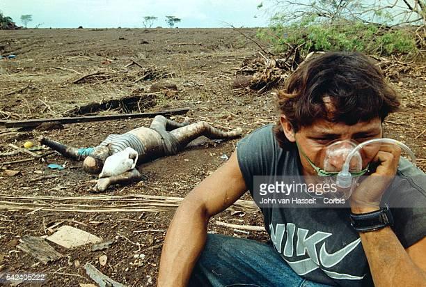 Survivor and victim in Rolando Rodriguez one of the villages destroyed by the Casitas mudslide