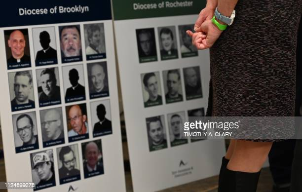 A survivor at a press conference in New York February 14 to announce the filing of a lawsuit against the Catholic Church The National Conference of...