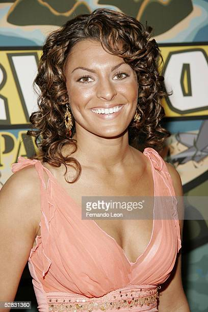 Survivor castaway Stephenie Lagrossa arrives at the Survivor Palau Finale/Reunion Show at the Ed Sullivan Theater May 15 2005 in New York City