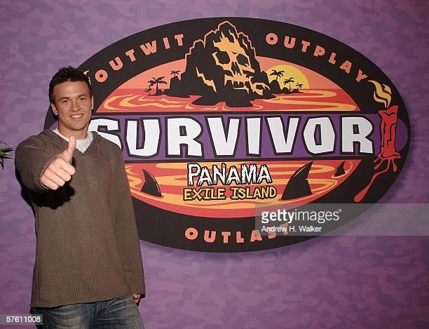 Survivor Castaway winner Aras Baskauskas attends the CBS Presentation of Survivor Panama Exile Island Finale/Reunion Show on May 14 2006 in New York...
