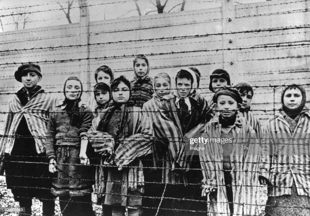 Survivor Children In The Concentration Camp Auschwitz-Birkenau After The Liberation. 1945. Poland. Photograph. February 1945. : News Photo
