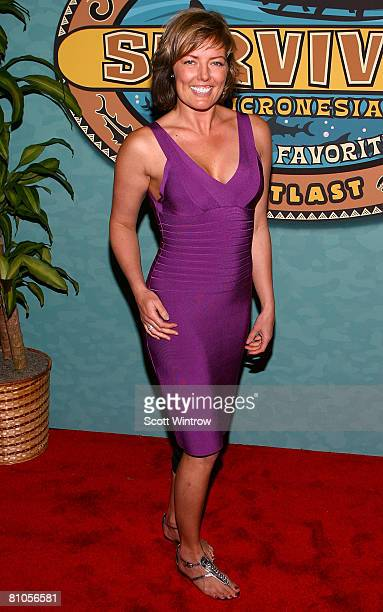 Survivor contestant Ami Cusack attends the Survivor Micronesia Finale and Reunion Show at the Ed Sullivan Theater on May 11 2008 in New York City