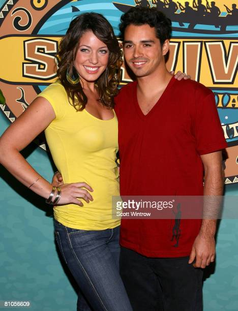 Survivor contestants Amanda Kimmel and Ozzy Lusth attend the Survivor Micronesia Finale and Reunion Show at the Ed Sullivan Theater on May 11 2008 in...